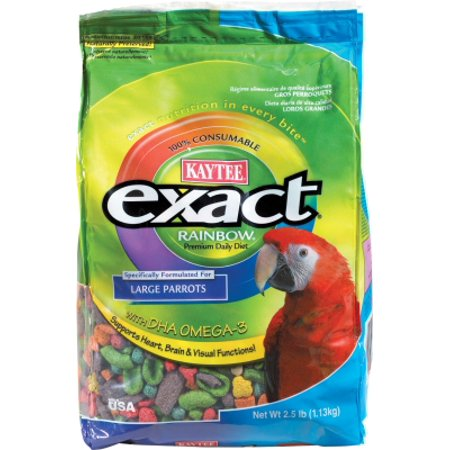2.5 Birds (Kaytee Exact Rainbow 100032422 Chunky Parrot Bird Diet, Large, 2.5)