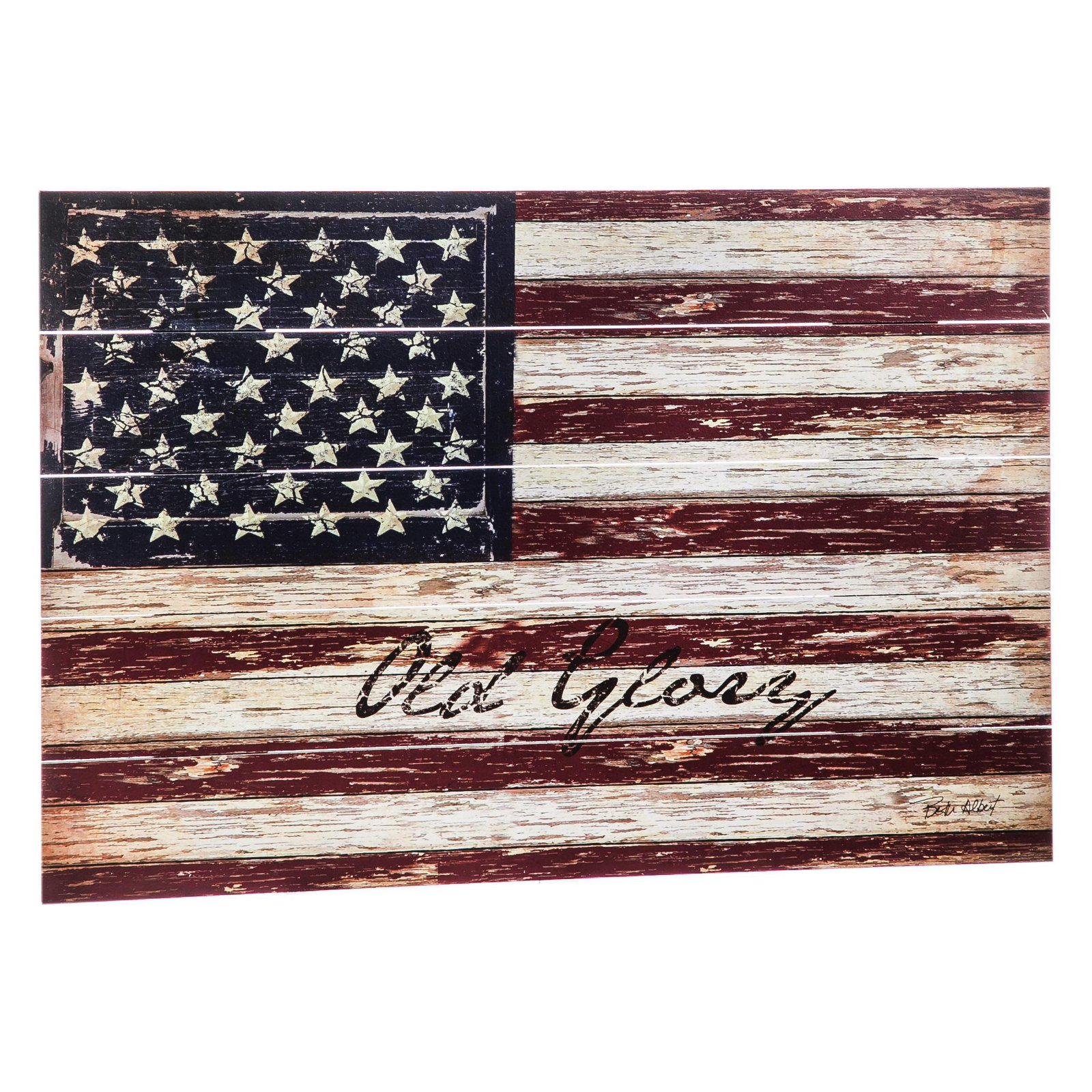 Cape Craftsman Old Glory Outdoor Wooden Plank Wall Décor