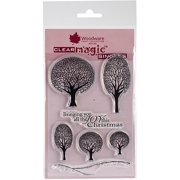 """Woodware Clear Stamps 3.5""""X5.5""""-Winter Tree"""