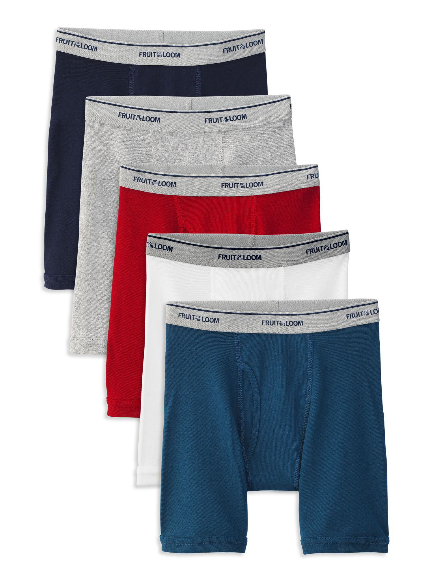 96a6bbacd0077 Fruit of the Loom Boys Tagfree Boxer Brief Underwear, 5 Pack ...