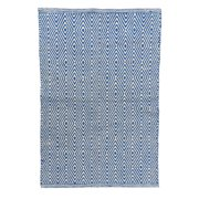 Artim Home Textile Diamond Blue/White Area Rug