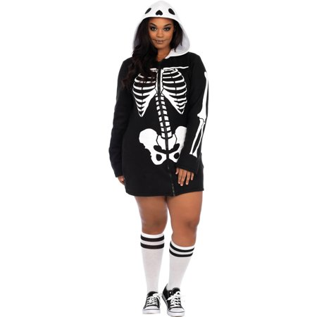 Women's Plus Size Cozy Skeleton Dress](Women's Skeleton Bodysuit)