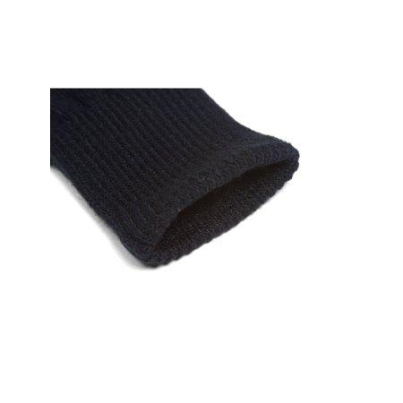 Plain Unisex Fingerless Glove, Black - image 1 de 2