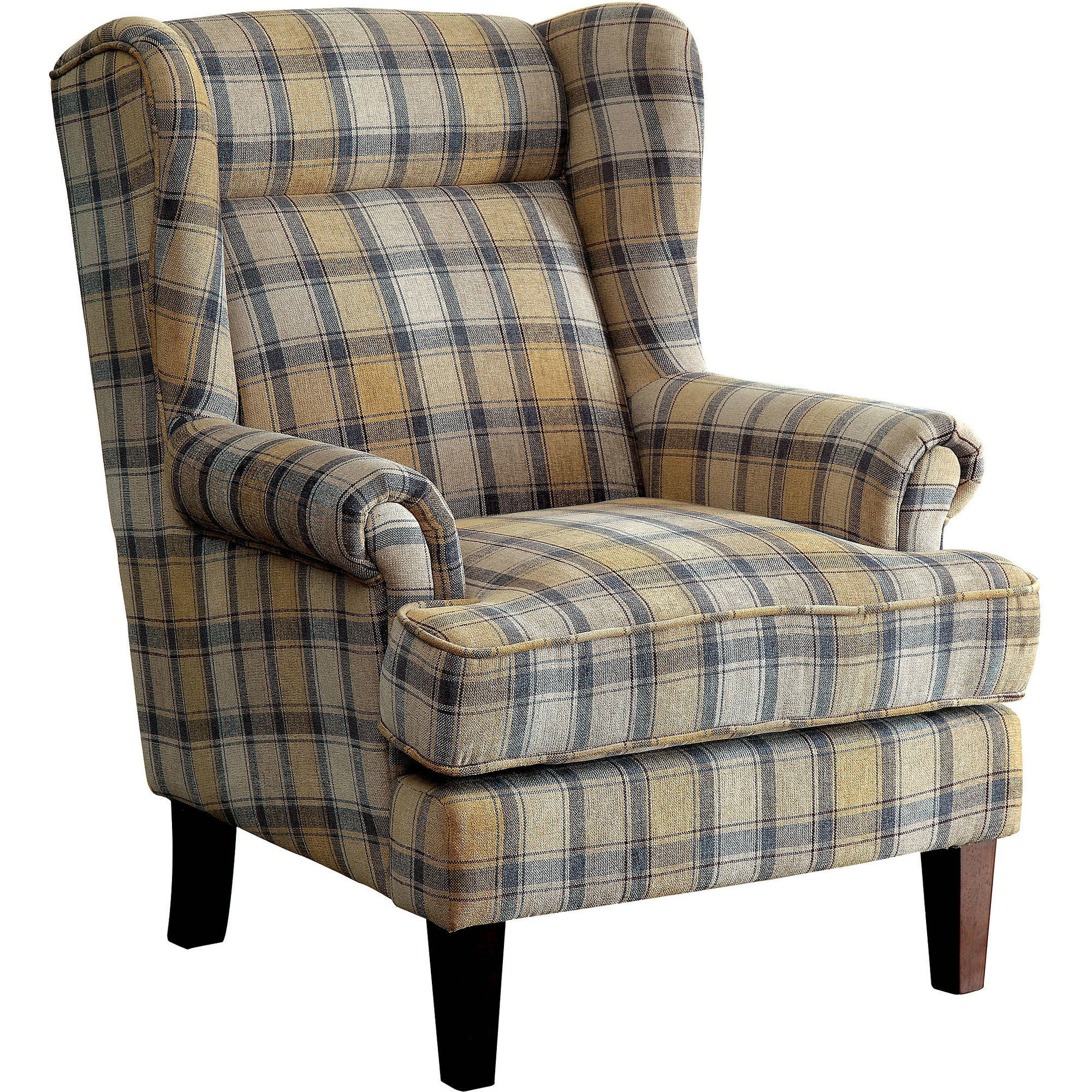 Furniture of America Loida Traditional Plaid Accent Chair
