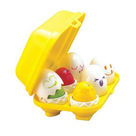 Tomy Toomies Hide & Squeak Eggs, Kids Egg Squeak Toys, 6m+](Shape O Toy)
