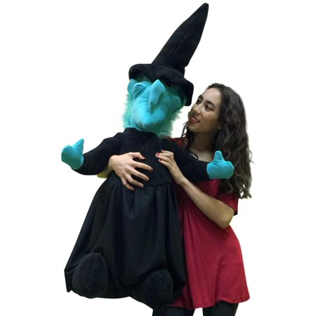 American Made Giant Stuffed Witch 40 Inches Tall Halloween Big Plush Made in the USA America