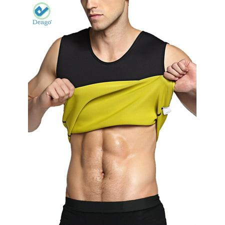 Deago Men's Hot Sweat Sauna Vest Slimming Body Shaper Tummy Fat Burner Tank Top Weight Loss Sport Shapewear Neoprene - Neoprene Full Neck Sweat
