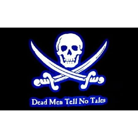 3x5 PIRATE FLAG Dead Men Tell No Tales Ship Banner Jolly Roger Skull Crossbones