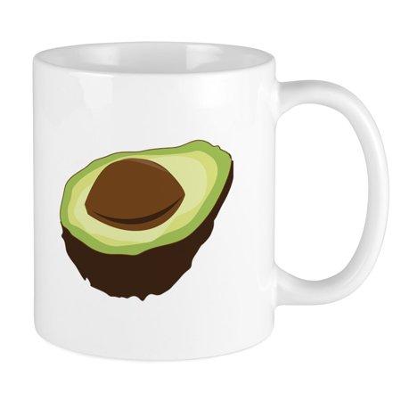 CafePress - Avocado Half Mugs - Unique Coffee Mug, Coffee Cup (Best Way To Store Avocado Half)
