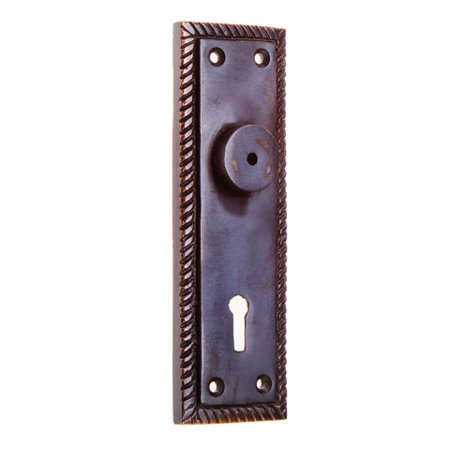 Darice Door Knob Backplates: Antique Copper Metal with Notched Trim