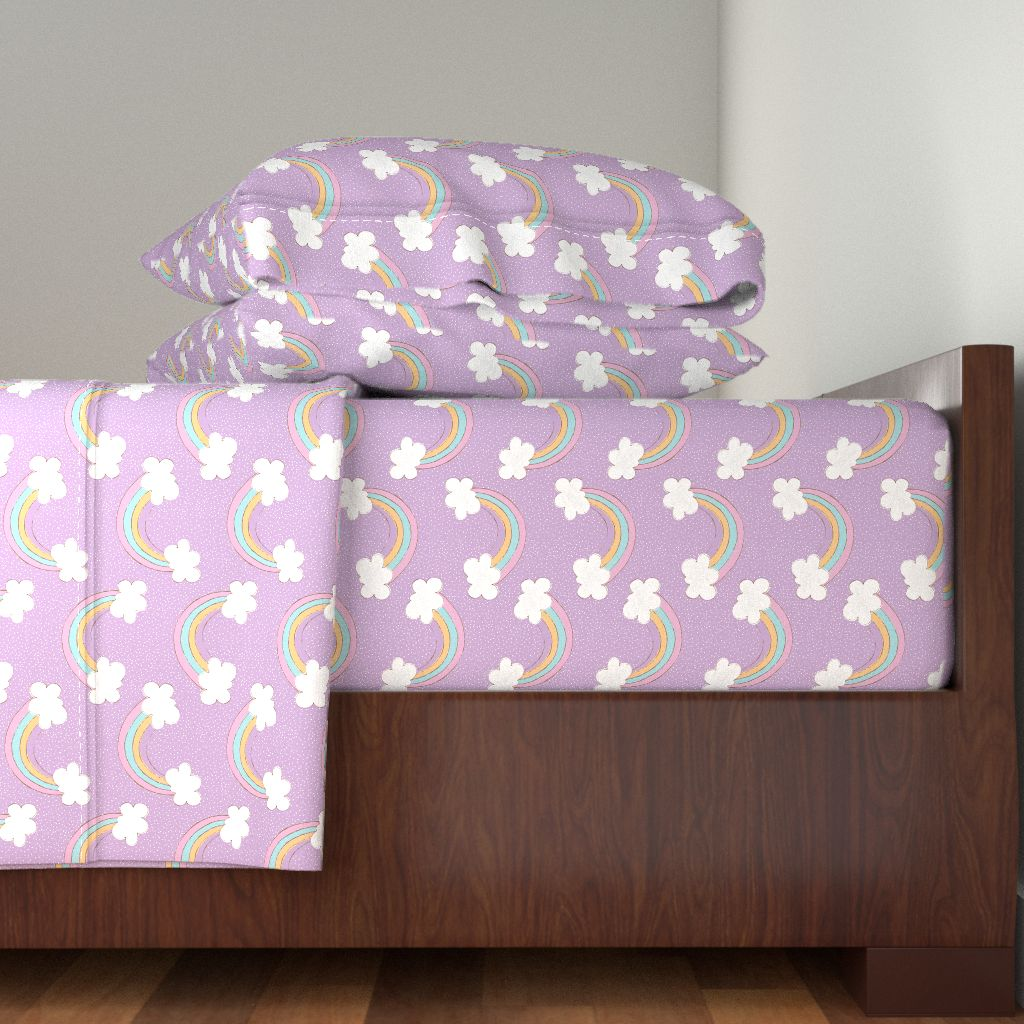 Rainbows Sunshine And Rainbow Sunshine 100% Cotton Sateen Sheet Set by Roostery
