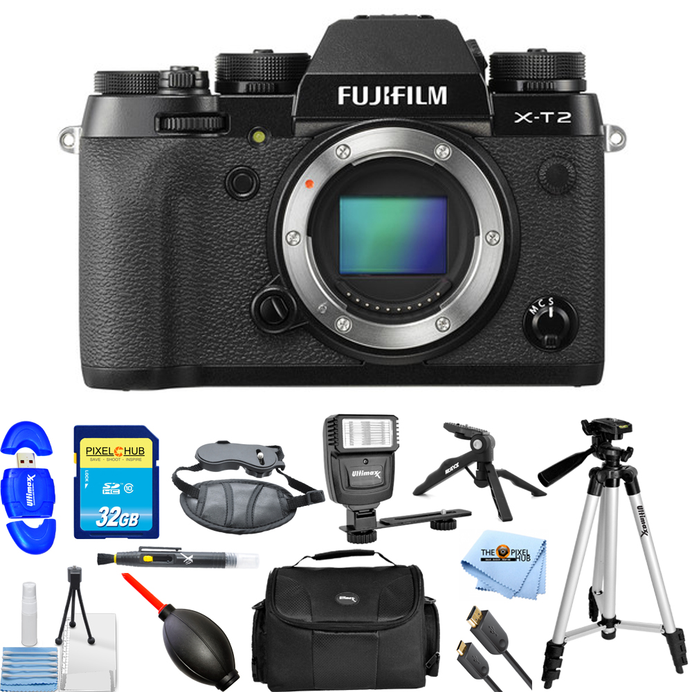 Fujifilm X-T2 Mirrorless Digital Camera (Body Only) PRO BUNDLE