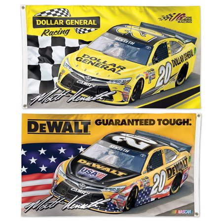 Matt Kenseth Dewalt And General Dollar Two Sided Flag