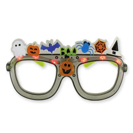 Tricks 'N Treats Gray Colored Flashing Halloween Spectacles