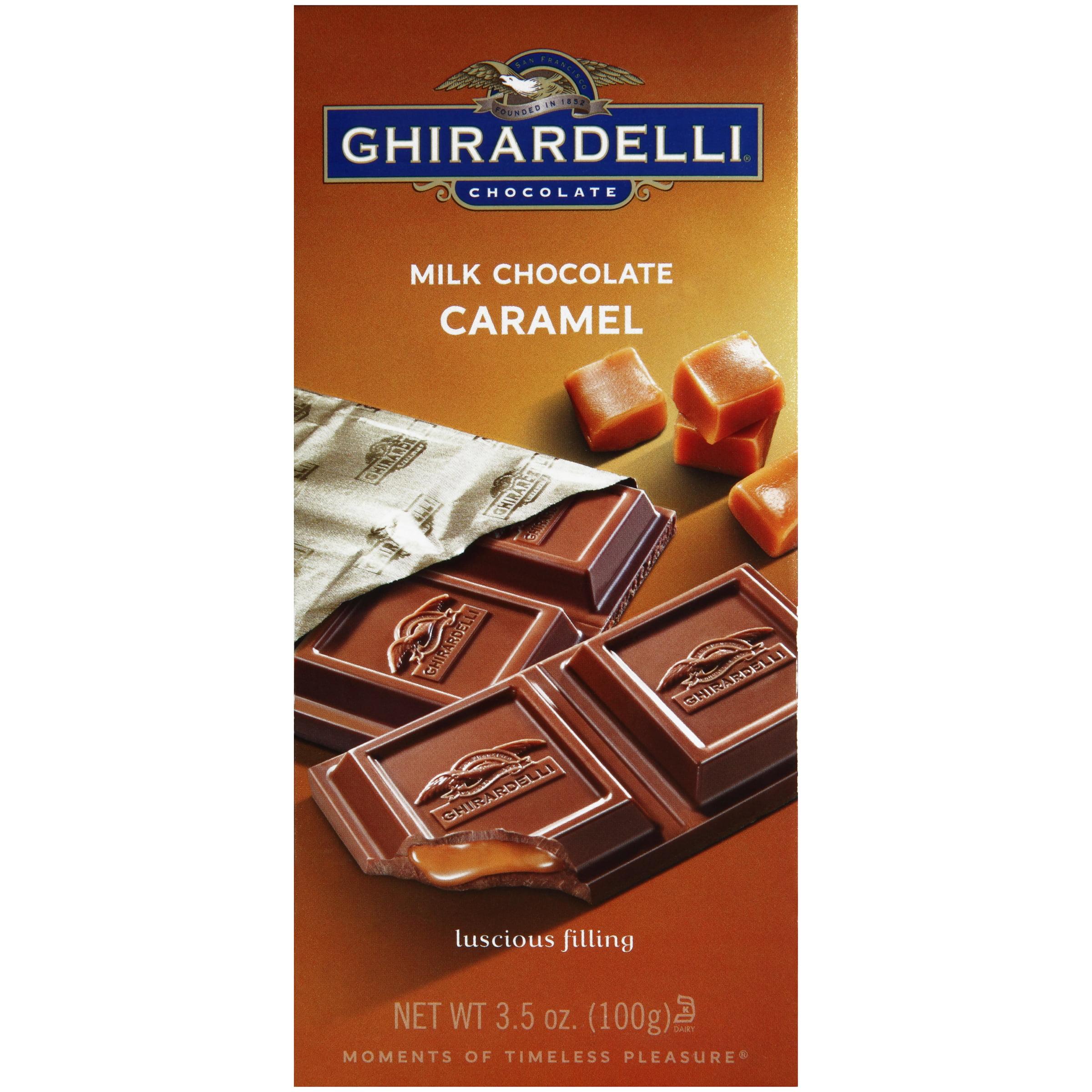 Ghirardelli Chocolate Milk Chocolate Caramel 3.5 oz. Box by Ghirardelli Chocolate Company