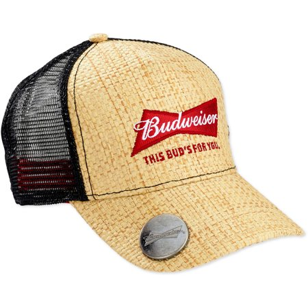 de613ecef9c87 LICENSE - Men s Budweiser Straw Baseball Cap With Bottle Opener -  Walmart.com