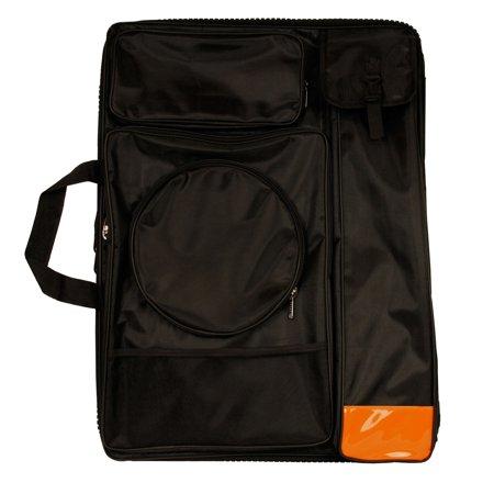 US Art Supply Black Nylon Art Portfolio Carry Bag, (Size: 25-1/2