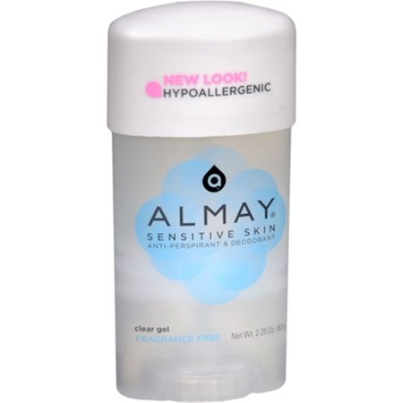Almay Anti-Perspirant & Deodorant Fragrance Free Clear Gel 2.25 oz (Pack of 3) ()