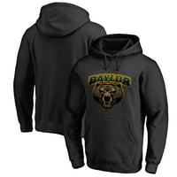 Baylor Bears Fanatics Branded Midnight Mascot Pullover Hoodie - Black