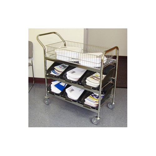 Charnstrom Medium File Cart with Non Marking Casters