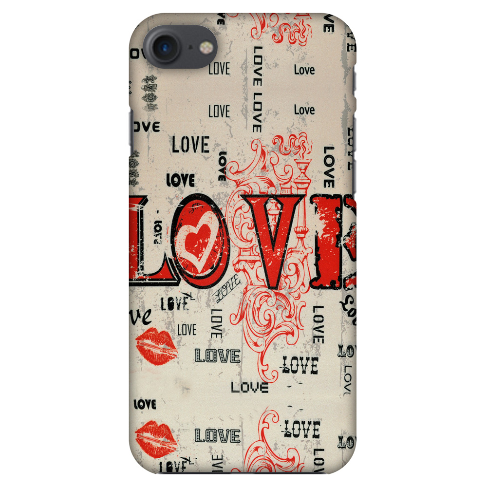 iPhone 7 Designer Case, Premium Handcrafted Printed Designer Hard ShockProof Case Back Cover for iPhone 7 - Enchanted Love