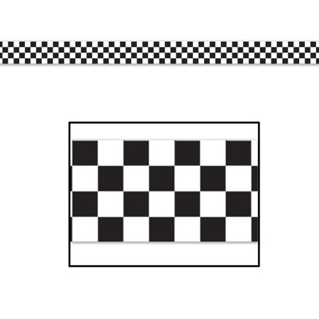 Checkered Poly Decorating Material Party Accessory (1 count) (1/Pkg)