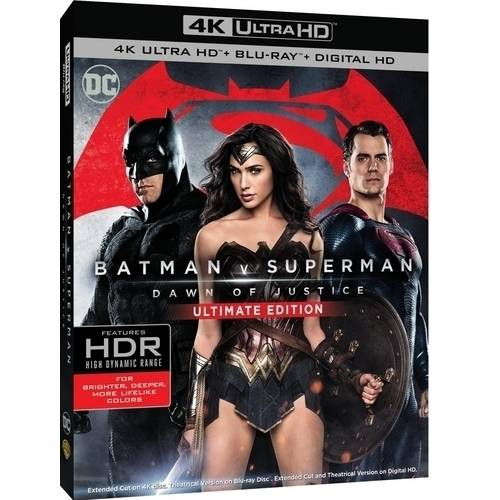 Batman V Superman: Dawn Of Justice (Ultimate Edition) (4K UltraHD + Blu-ray + Digital HD With UltraViolet) (With INSTAWATCH)
