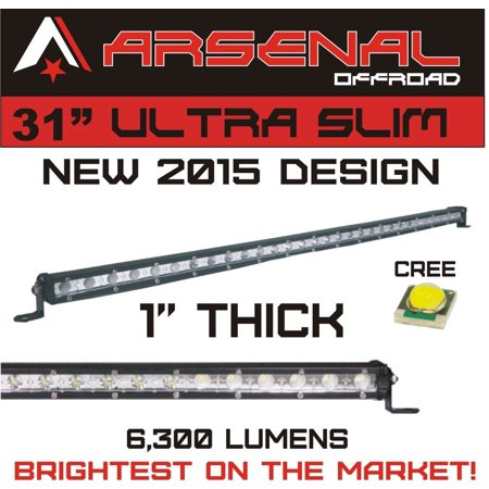 "31""x1"" 90W Cree LED Work Light Bar 12V 24V Combo Beam 4x4 offroad UTV ATV 4WD"