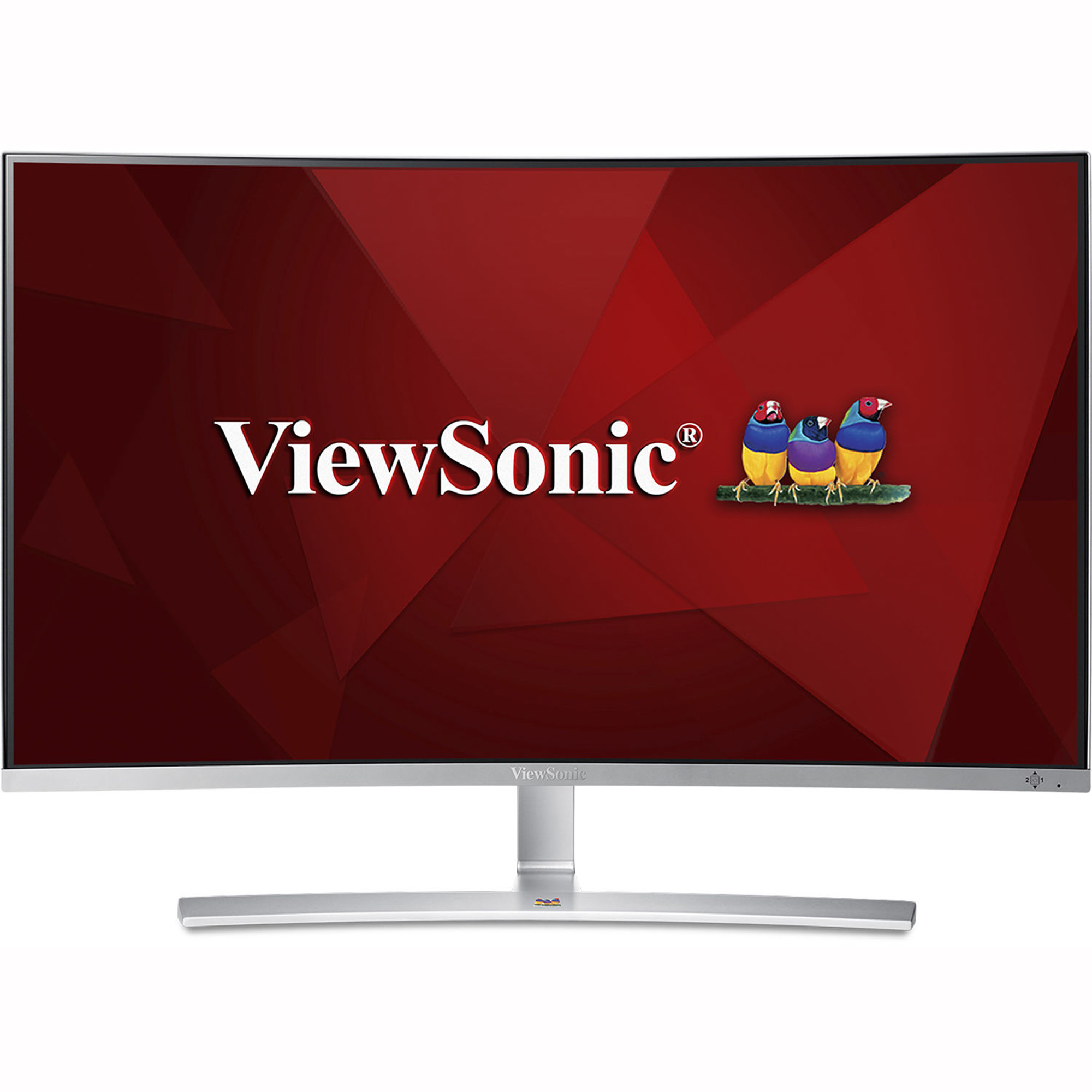 ViewSonic VX3216-SCMH-W 32 Inch 1080p 1800R Curved Monitor with Dual Speakers HDMI DVI and VGA