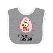 Baby Girl 1st Easter Holiday Baby Bib