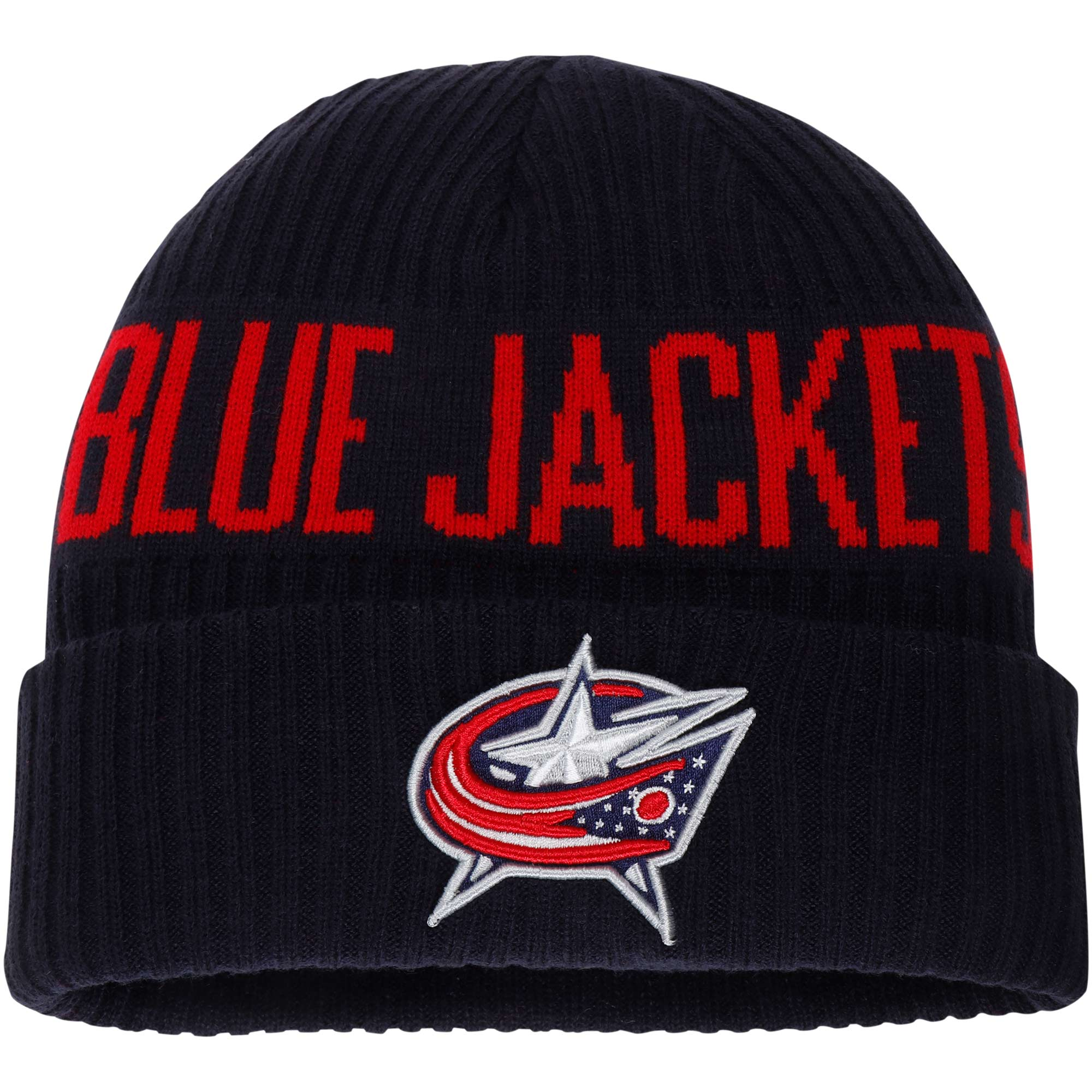 Columbus Blue Jackets Fanatics Branded True Classic Bold Cuffed Knit Hat - Navy - OSFA