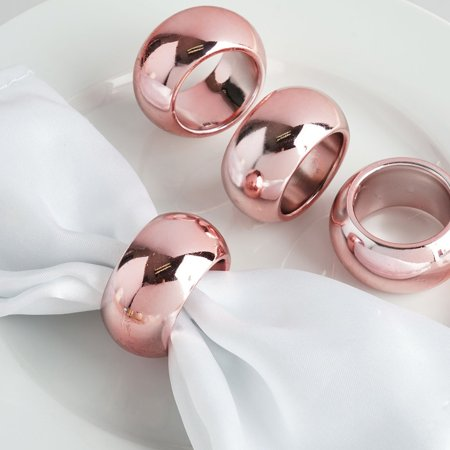 BalsaCircle 4 pcs Acrylic Napkin Rings - Wedding Party Events Restaurant Dinner Kitchen Home Decorations ()