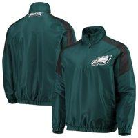 Men's G-III Sports by Carl Banks Midnight Green/Black Philadelphia Eagles Half-Zip Pullover Jacket