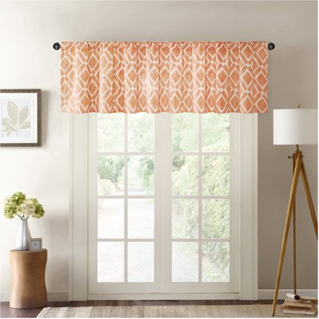 home essence natalie printed diamond window valance. Black Bedroom Furniture Sets. Home Design Ideas