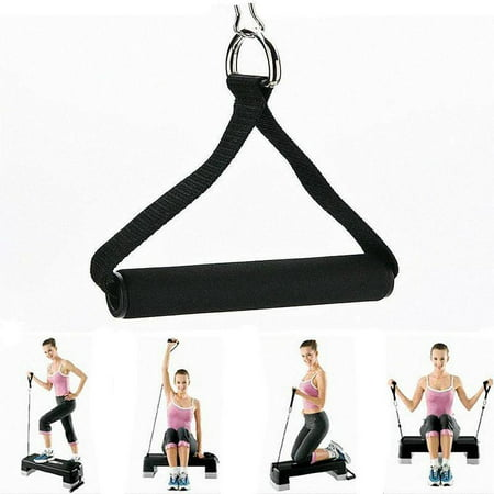 Tbest Fitness Rope Attachment Bar Hand Gripper Dip Station Gym Fitness Resistance Rope