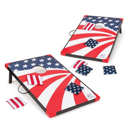 EastPoint Sports Stars & Stripes Cornhole Bean Bag Toss, 3' x 2' ()