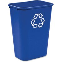 Rubbermaid Commercial Products FG295773BLUE Deskside Recycling Container, 10 Gallon/41 QT, Blue