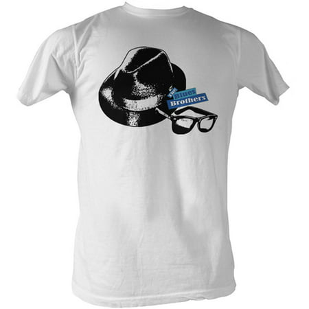Blues Brothers Men's  Hat And Glasses T-shirt (Blues Brothers Hat Type)