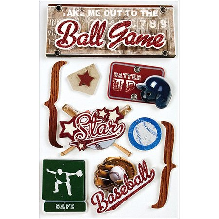 Paper House 3D Stickers, Baseball - Baseball Stickers