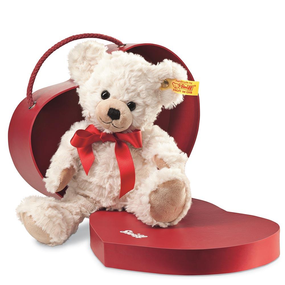 "Steiff Teddy Bear, 9"" Sweetheart Plush Teddy Bear in Heart Shaped Box by STEIFF NORTH AMERICA"