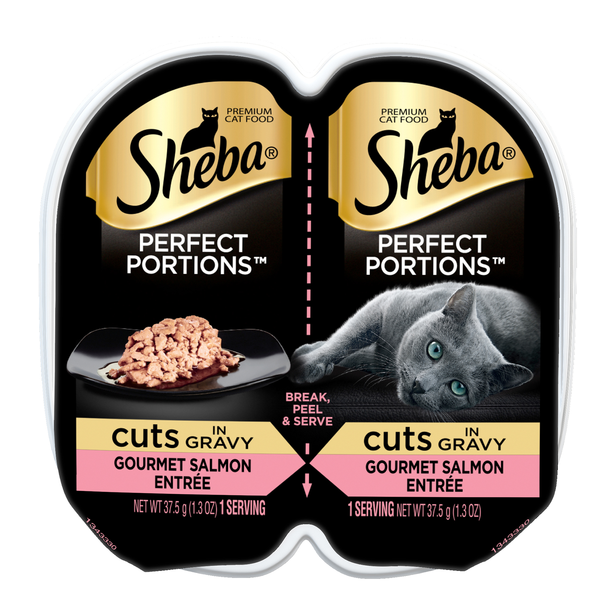 SHEBA PERFECT PORTIONS Cuts in Gravy Gourmet Salmon Entrée Wet Cat Food 2.6 oz.
