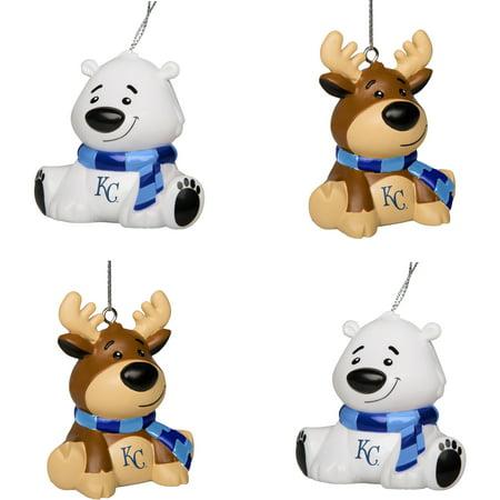 Kansas City Royals Reindeer & Bear Ornament 4-Pack Set - No Size ()