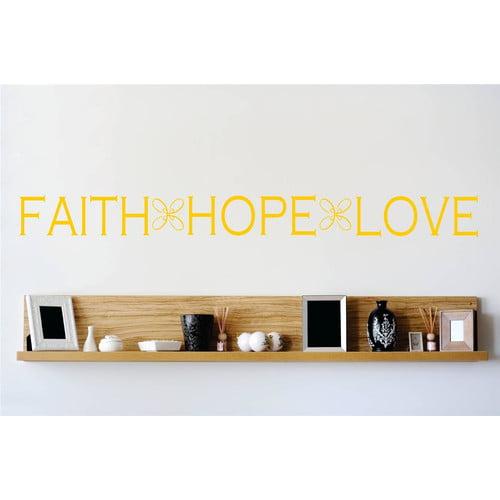 Design With Vinyl Faith Hope Love Wall Decal