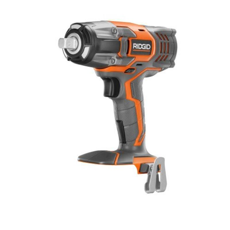 Ridgid R86010B 1/2 in. Impact Wrench (Tool Only) Battery ...
