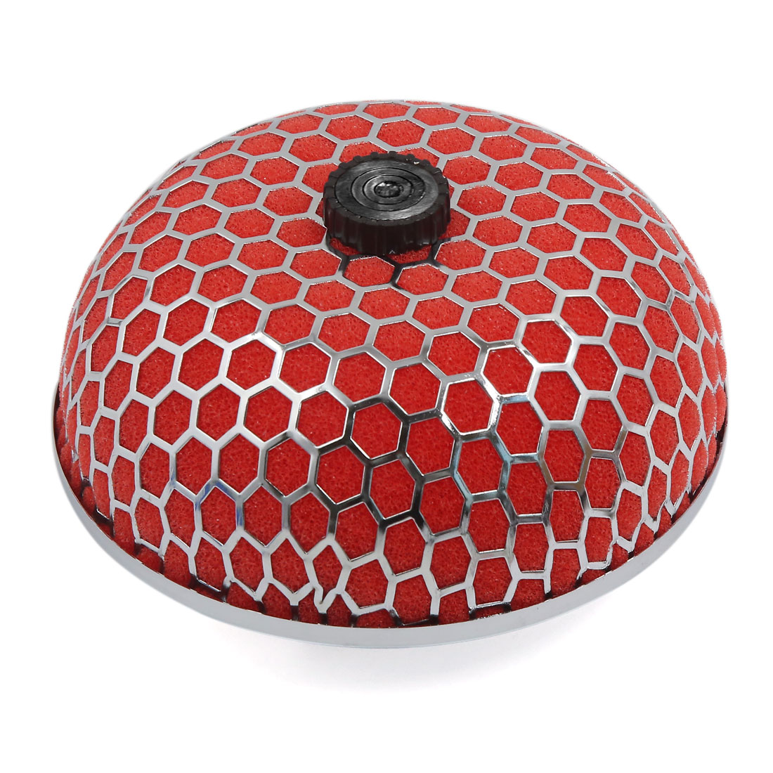 "3"" Inlet Dia Red Cold Air Flow Intake Microfoam Mushroom Shape Filter"