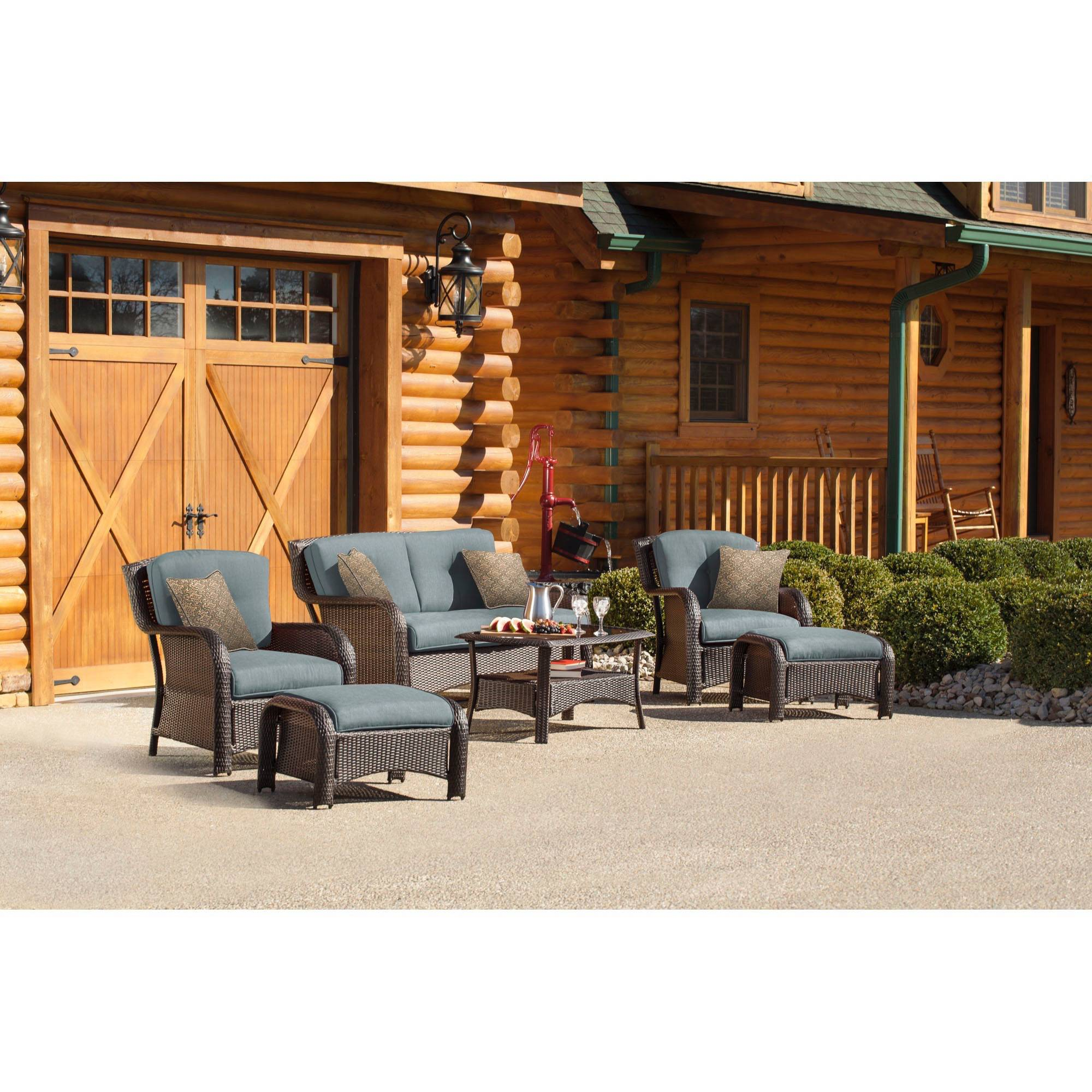 Hanover Strathmere 6-Piece Outdoor Deep-Seating Luxury Lounge Patio Set