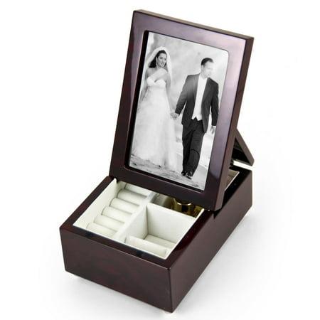 Ultra Modern Fold-Up 6 X 4 Photo Frame Musical Jewelry Box - Are You Lonesome Tonight Sutton Bridge Black Frame