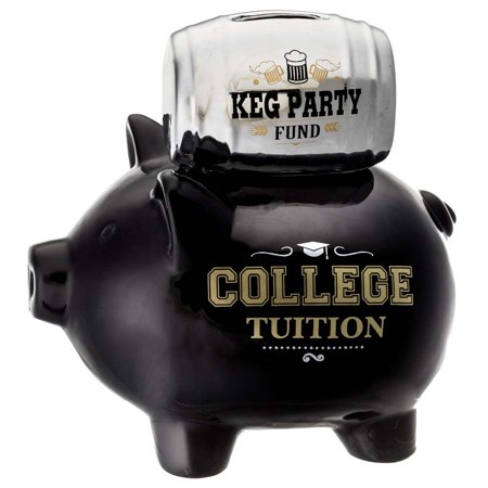 Prinz College Tuition- Keg Party Ceramic Piggy Bank](White Ceramic Piggy Bank)
