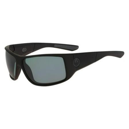 DRAGON Sunglasses WATERMAN 003 Matte Black Grey Rectangle Unisex (Dragon Sunglasses Calavera)