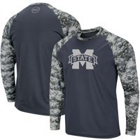 Mississippi State Bulldogs Colosseum OHT Military Appreciation Digi Camo Raglan Long Sleeve T-Shirt - Charcoal/Camo